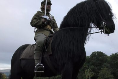 Marc Lovatt and The Cavalry of Heroes Historical Training Demos Horses and Carriages WW1 Soldier
