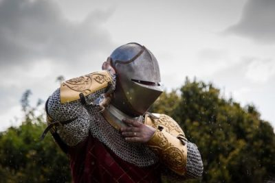Berkeley Castle Medieval Jousting Show 2017 - Knight of The Cavalry of Heroes