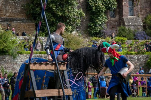 Berkeley Castle Medieval Jousting Show 2017 - Knights on Horseback Medieval Jousting Show from The Cavalry of Heroes with jester and Sir Robert