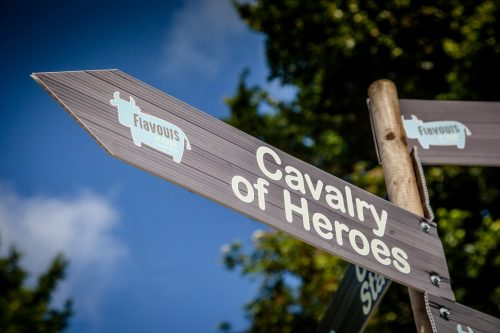 Flavours of Fingal Country Show Dublin Ireland - The Cavalry of Heroes Medieval Jousting Horse Stunt Show - Sign