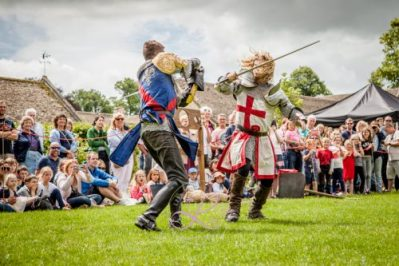 Sulgrave Manor Medieval Jousting Show 2017 - Medieval Tudor Wedding - Jousting Tournament with The Cavalry of Heroes - Sword-fighting Knights