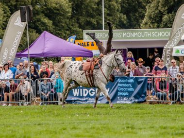 Herefordshire Country Fair - WW1 Horses and Heroes - Trick Riding - The Scissor Headstand