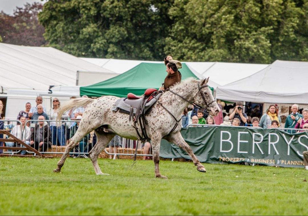 Herefordshire Country Fair - WW1 Horses and Heroes - Trick Riding - I doff my cap