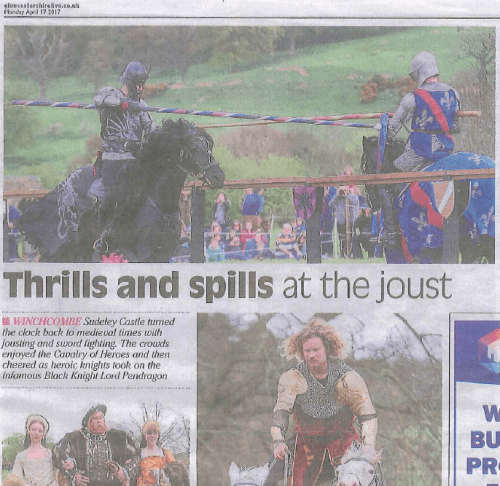 Sudeley Castle Medieval Jousting Show - Gloucestershire Echo - The Cavalry of Heroes