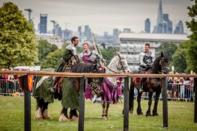 The Cavalry of Heroes at Lambeth Country Show Medieval Jousting Display