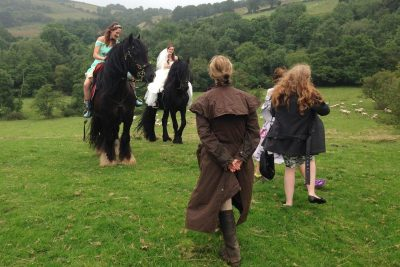 Behind the Scenes - Spectacular Grand Wedding Arrival on Horseback from Catherine Lovatt and The Cavalry of Heroes Film Horses and Carriages