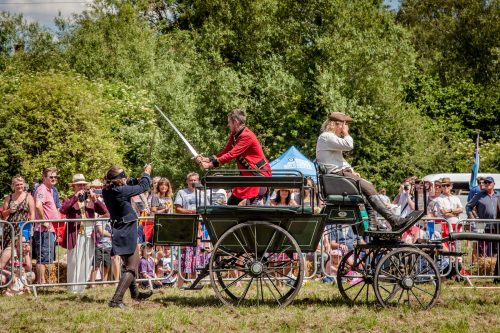 012 The Cavalry of Heroes performing Cavalry through the Ages Trick Riding Horse Show at Kinver Country Fair 2017 Romans, Knights and Highwayman on Horses