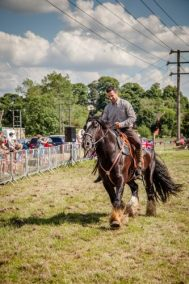 017 The Cavalry of Heroes performing WW1 Trick Riding Horse Show at Kinver Country Fair 2017 Romans, Knights and Highwayman on Horses