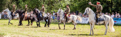 020 The Cavalry of Heroes performing WW1 Trick Riding Horse Show at Kinver Country Fair 2017 Romans, Knights and Highwayman on Horses