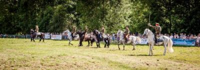 022 The Cavalry of Heroes performing WW1 Trick Riding Horse Show at Kinver Country Fair 2017 Romans, Knights and Highwayman on Horses