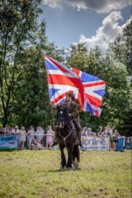 038 The Cavalry of Heroes performing WW1 Trick Riding Horse Show at Kinver Country Fair 2017 Romans, Knights and Highwayman on Horses