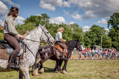 045 The Cavalry of Heroes performing WW1 Horse Trick Riding Show at Kinver Country Fair 2017 Romans, Knights and Highwayman on Horses
