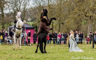 Sudeley Castle Easter Joust 2018 with Six Horses, Four Knights and Two Kings