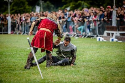 The Cavalry of Heroes performing Medieval Jousting Show at Lambeth Country Show 2017 Knights on Horseback 1