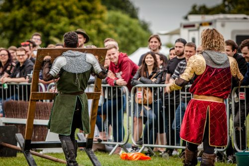 The Cavalry of Heroes performing Medieval Jousting Show at Lambeth Country Show 2017 Knights on Horseback 2