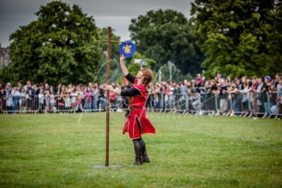 The Cavalry of Heroes performing Medieval Jousting Show at Lambeth Country Show 2017 Knights on Horseback 22