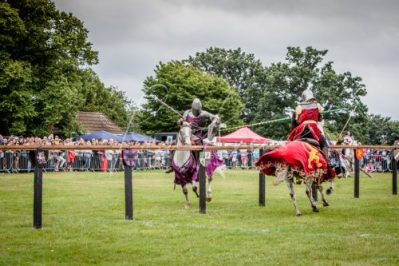 The Cavalry of Heroes performing Medieval Jousting Show at Lambeth Country Show 2017 Knights on Horseback 42