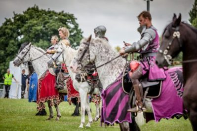 The Cavalry of Heroes performing Medieval Jousting Show at Lambeth Country Show 2017 Knights on Horseback 8