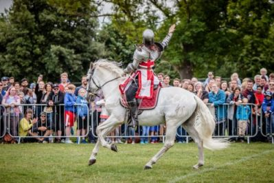 The Cavalry of Heroes performing Medieval Jousting Show at Lambeth Country Show 2017 Knights on Horseback 9