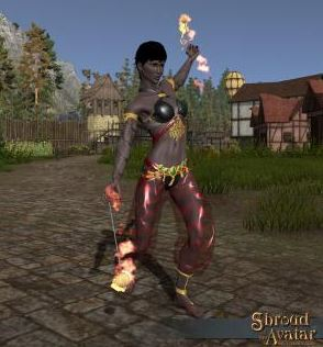 Firedancer Outfit - (Gloves, Leggings, Shoes, Top)
