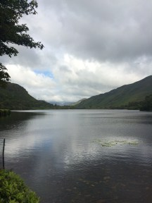 View of the lake in front of Kylemore Abbey