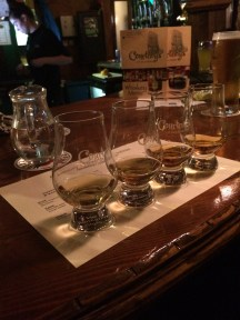 Whiskey flight-we took home some of the whiskey glasses!