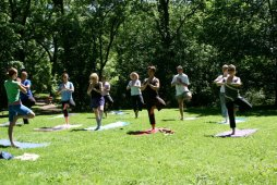 Yoga in the meadow