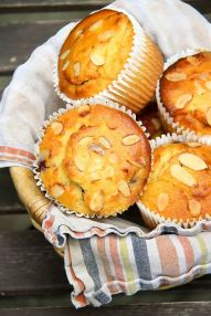 Our Homemade Gluten-Free Almond Blueberry Muffins!