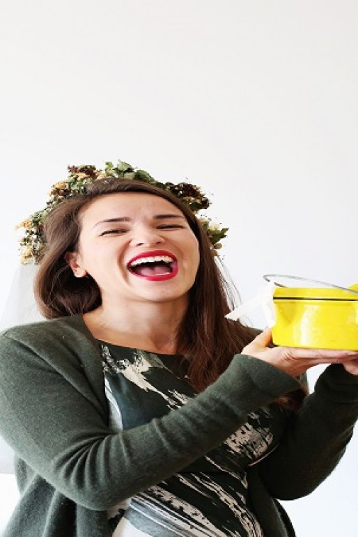 Rachel Khoo ties the knot with yellow pot
