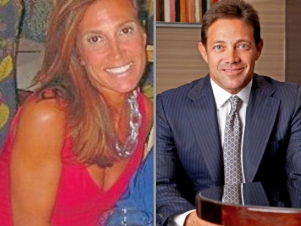 Estranged couple Jordna belfort and his first wife Denise Lombardo