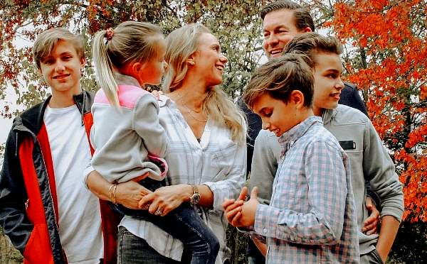 Tamara Day with her husband and four children.
