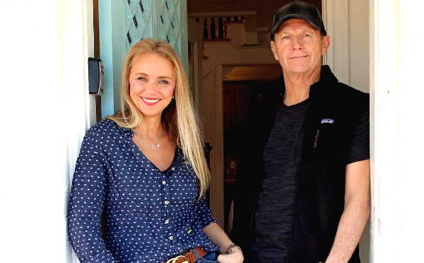 Tamara Day at work along with her Father.