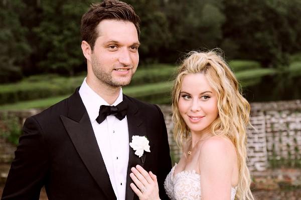 Todd Kapostasy with his beloved wife Tara Lapinski