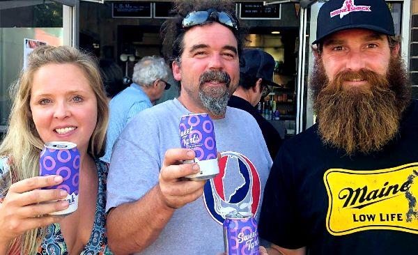 Ashley Morrill Eldrige with her husband Ryan Eldridge and brother Chase Morrill(Right)