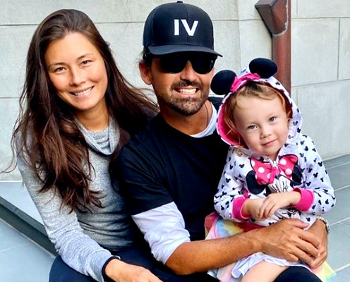 Sidney Torres with his girlfriend Selina White and daughter Sefina