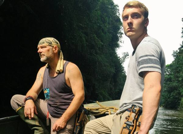 Les Stroud along with son Logan Stroud