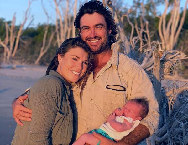 Matt Wright wife and son