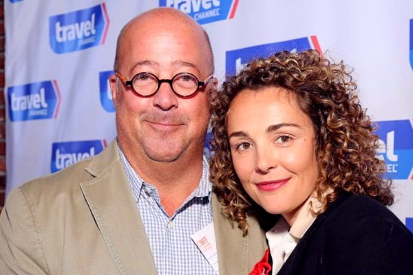 Rishia Haas with her Ex-Husband Andrew Zimmern.