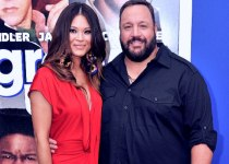 Steffiana De La Cruz with her husband Kevin James.
