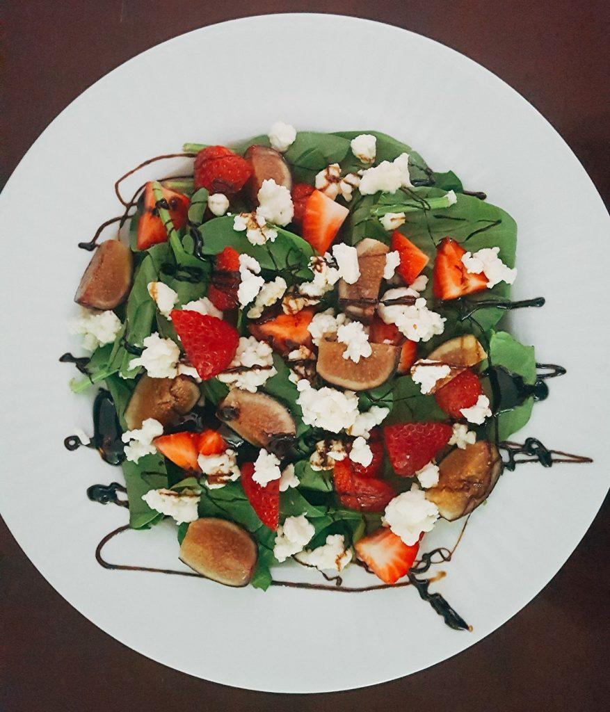 Balsamic Reduction on Salad