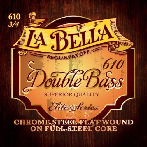 Комплект струн для контрабаса размером 3/4, сталь, La Bella 610 описание и цены
