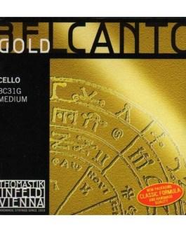 Комплект струн для виолончели размером 4/4, среднее натяжение, Thomastik BC31G Belcanto Gold описание и цены