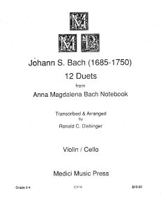 Bach J.S. -12 duets from Anna Magdalena Bach Notebook for violin and cello
