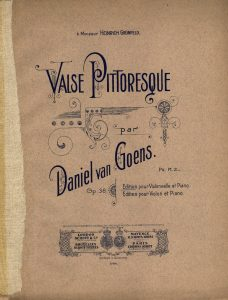 Goens D. - Valse Pittoresque for Cello and Piano Op.38