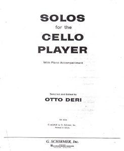Deri O. - Solos for the cello player