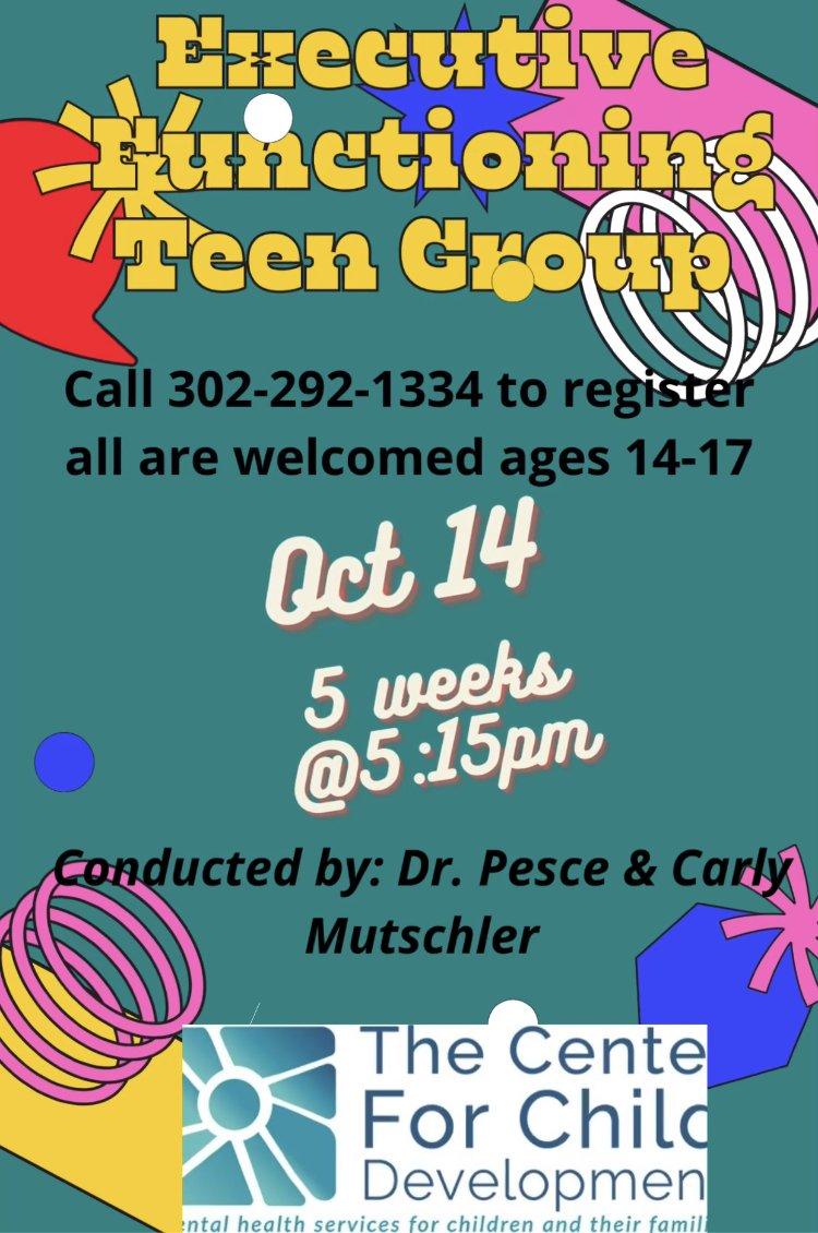 Executive Functioning Teen Group (Fall 2021)
