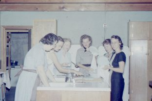 Blance and ladies in kitchen