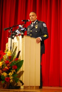 Richard Ross (241) giving his remarks after being sworn in as Philadelphia's new police commissioner. Photo Credit: Albert Tanjaya (275)