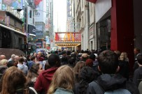 275 students arriving at Madame Tussaud's wax museum in New York City. Photo courtesy of Ashish Dahal (275).