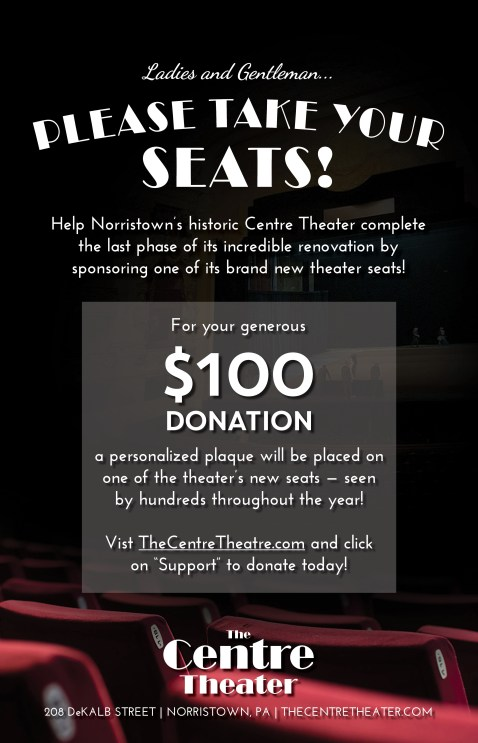 Centre Theater Seat Naming Poster